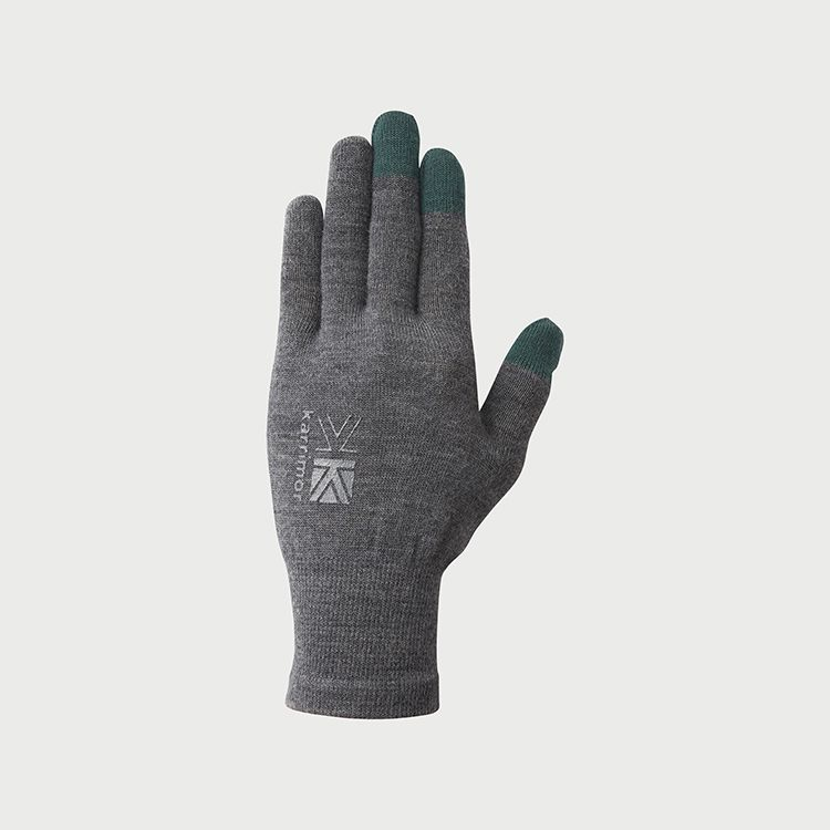 wool logo glove