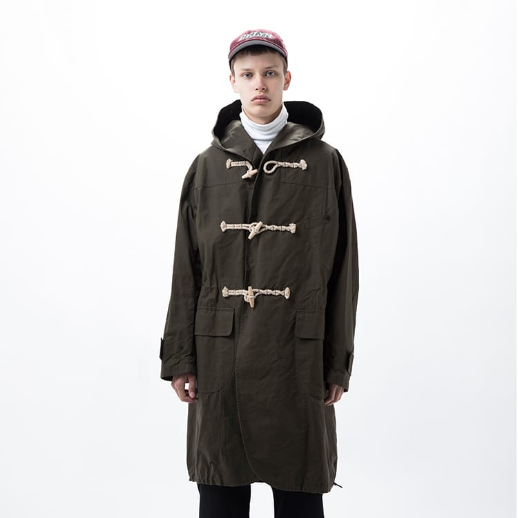 wax cotton duffle coat