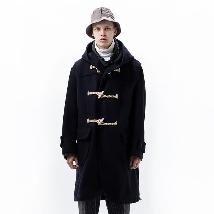 wool melton duffle coat