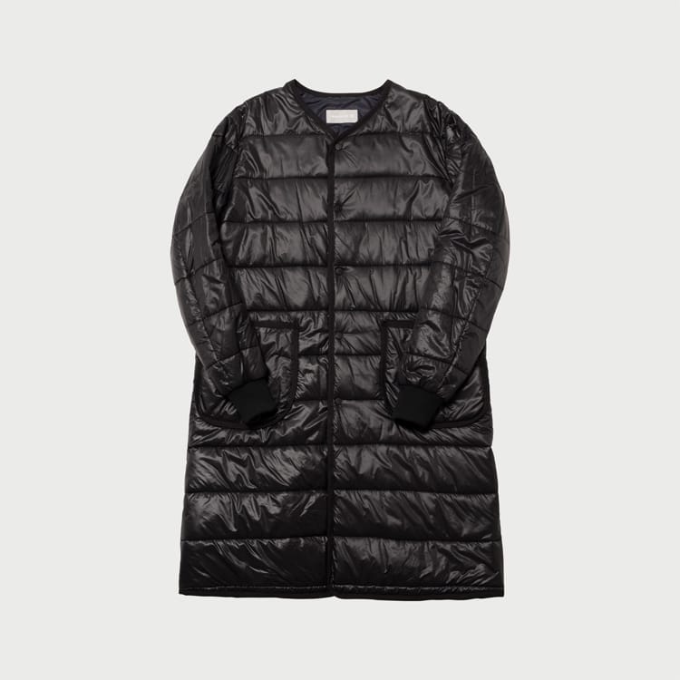 nylon long padded jacket