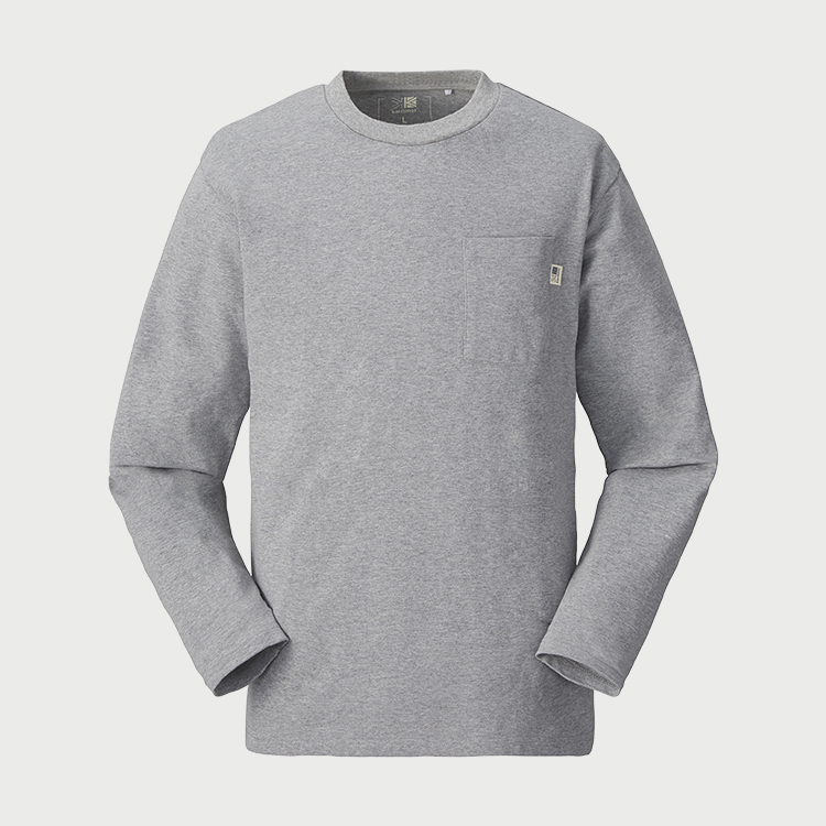 pocket wide L/S T