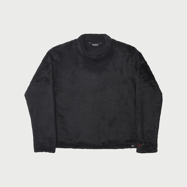 mock neck fleece